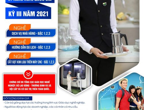 THÔNG BÁO ĐÁNH GIÁ KỸ NĂNG NGHỀ QUỐC GIA KỲ III NĂM 2021 (Tháng 3 năm 2021)